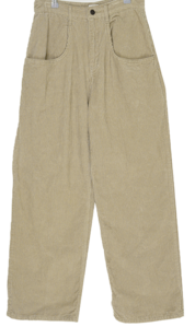 Windy loose pocket golden trousers
