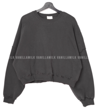 Mellow Split Crop Sweatshirt