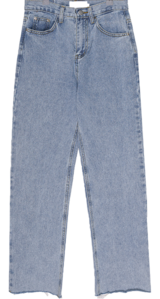Light Vintage Cut Wide Denim Pants