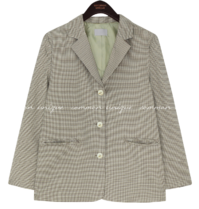 Houndstooth Check Notch Lapel Jacket