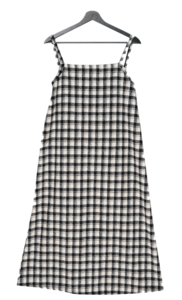 Frame Wool Check Bustier Dress