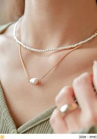 ARIS PEARL LAYERED NECKLACE