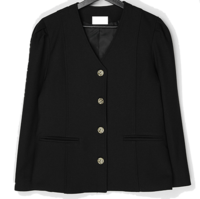 Brischel no-collar puff shirred jacket