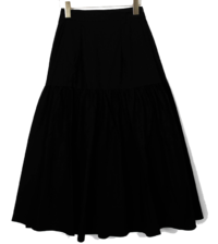 Shirring Tia Long Skirt