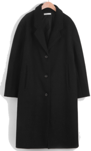 Belle single wool coat