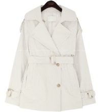 Wide Lapel Belted Trench Coat
