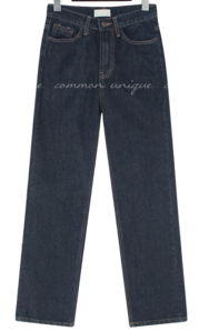 Contrast Stitch Straight Jeans