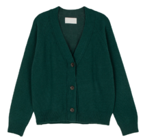 Yogurt Wool V-Neck Cardigan