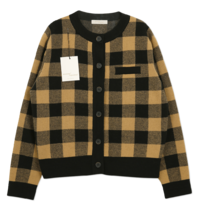 MMMM/ Big Check High Density Cardigan 開襟衫