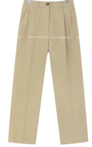 Pleat Accent Loose Fit Slacks