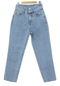 Made two-button straight jeans