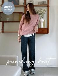 Tobia Loose-fit Punching Knitwear
