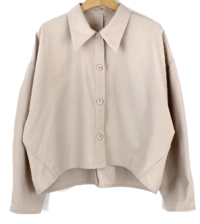 Luvty cropped shirt blouse-3color