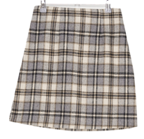 Kitsch wool check skirt