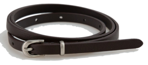 Matt slim leather belt