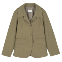 Reverb pintuck big collar jacket