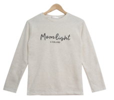 Rat Moon Lettering Long Sleeve Tee