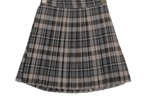 Check zenut pleated skirt