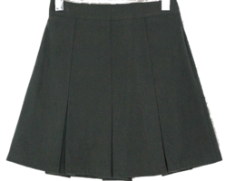 Terry pleated mini skirt
