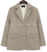 Woolen Notch Lapel Jacket