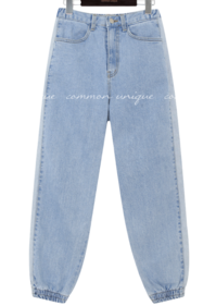 Semi-Elasticized Waist Denim Jogger Pants