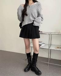 Youth V-Neck Multi-Fit Ribbed Knitwear