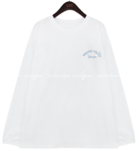 Lettering Embroidery Loose T-Shirt