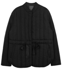 Day strap quilted padding zip-up