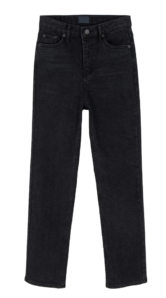 Dark black Fleece-lined slim jeans 牛仔褲