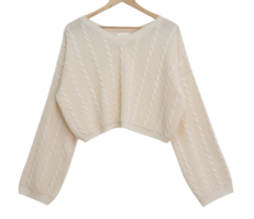 Fleet V-Neck Cropped Knitwear