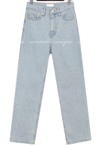 Washed Straight Jeans