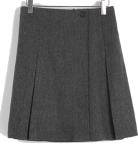 Blend wool pleated skirt