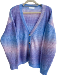 Gradient Loose Knit Cardigan