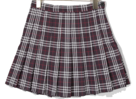 Check levi pleated skirt