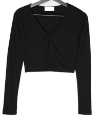 Oman Ribbed buckle cropped cardigan