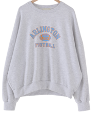 Football printing cotton Sweatshirt 長袖上衣