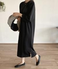 Relaxing Simple x Easy Long Dress -Gracie Blue Same Day Shipping