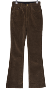 Brownie suede banding Flared trousers