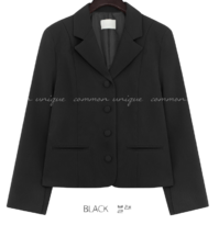 Notch Lapel Boxy Jacket