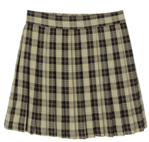 Girls check pleated mini skirt