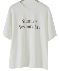 New York Lettering Cotton T-shirt