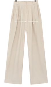 Semi-Elasticized Waist Wide Slacks
