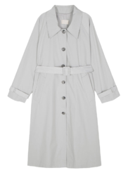 French single long trench coat