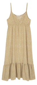 Forest sleeveless shirred maxi dress