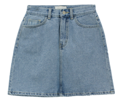 Clean Denim Skirt