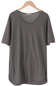 Lotus Cotton U-neck T-shirt