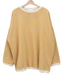 Striped Fleece-lined overfit long Sweatshirt