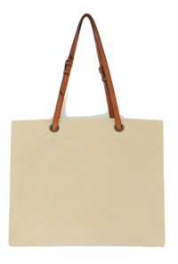 Faux Leather Strap Tote Bag