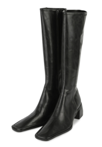 Dai Fleece-lined middle heel long boots