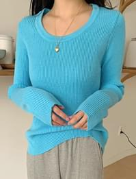 Scone Ribbed Round Knitwear